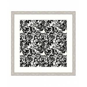 "Melissa Van Hise Ebony Blossoms Iii Framed Giclee Wall Art - 44"" x 44"" x 2""  - Multi"
