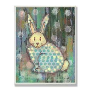 "Stupell Industries The Kids Room Distressed Woodland Rabbit Wall Plaque Art, 12.5"" x 18.5""  - Multi"