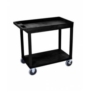 Clickhere2shop Heavy - Duty One Tub - One Flat Shelf Utility Cart  - Black