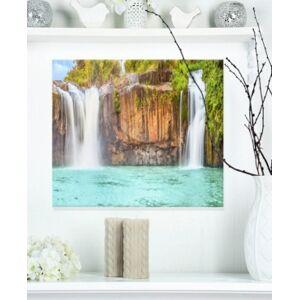 "Design Art Designart 'Dry Sap Waterfall' Photography Metal Wall Art - 20"" X 12""  - Multi"