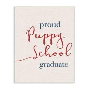 "Stupell Industries Proud Puppy School Grad Wall Plaque Art, 12.5"" x 18.5""  - Multi"