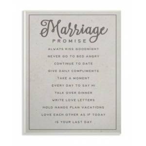 """Stupell Industries Marriage Promise Wall Plaque Art, 12.5"""" x 18.5""""  - Multi"""