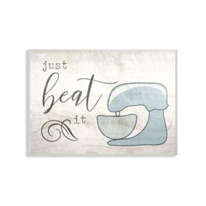 "Stupell Industries Just Beat it Egg Beater Wall Plaque Art, 12.5"" x 18.5""  - Multi"