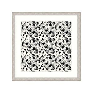 "Melissa Van Hise Ebony Blossoms Ii Framed Giclee Wall Art - 44"" x 44"" x 2""  - Multi"