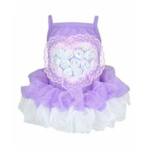 Parisian Pet Tutu Heart Dog Dress  - Lavender