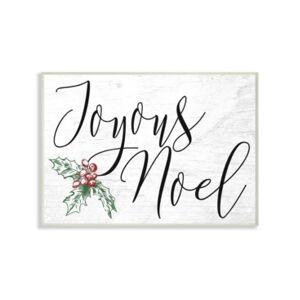 "Stupell Industries Joyous Noel Christmas Wall Plaque Art, 12.5"" x 18.5""  - Multi"