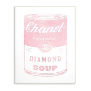 "Stupell Industries Fashion Diamond Soup Wall Plaque Art, 12.5"" x 18.5""  - Multi"