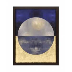 """Paragon Picture Gallery Paragon Blue Sphere I Framed Wall Art, 53"""" x 41""""  - Multi"""