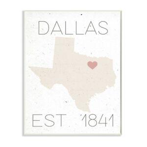 "Stupell Industries Dallas Est 1841 Wall Plaque Art, 12.5"" x 18.5""  - Multi"