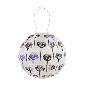 Allsop Home & Garden Soji Printed Artichoke Round Solar Lantern