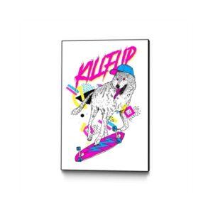 """Eyes On Walls Robert Farkas Kill Flip Art Block Framed 24"""" x 36""""  - Multi"""