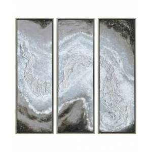 """Empire Art Direct Iced Textured Metallic Hand Painted Wall Art Set by Martin Edwards, 60"""" x 20"""" x 1.5""""  - Multi"""