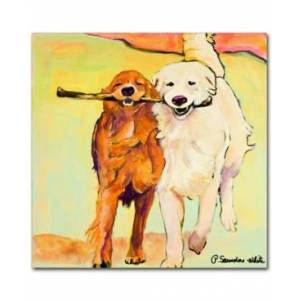 """Trademark Global Pat Saunders-White 'Stick with Me' 14"""" x 14"""" Canvas Wall Art  - No Color"""