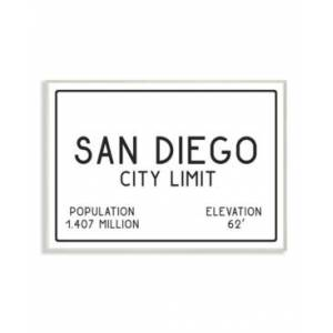 "Stupell Industries San Diego City Limit Wall Plaque Art, 12.5"" x 18.5""  - Multi"