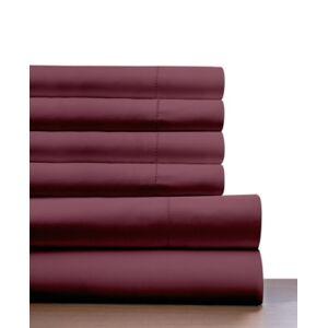 Pointehaven 410 Thread Count 6 Piece King Sheet Set Bedding  - Merlot