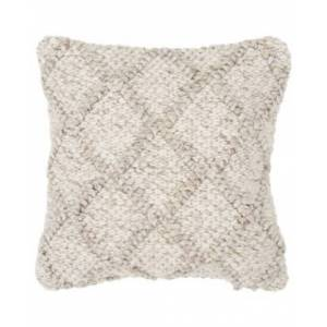 """Rizzy Home Diamond Down Filled Decorative Pillow, 20"""" x 20""""  - Beige"""
