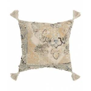 "Rizzy Home Abstract Polyester Filled Decorative Pillow, 20"" x 20""  - Natural"