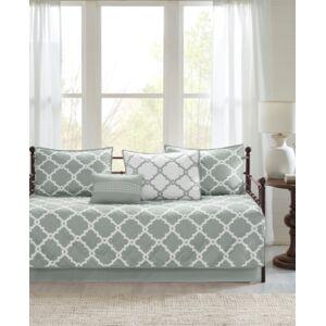 Madison Park Essentials Merritt 6-Pc. Reversible Daybed Bedding Set Bedding  - Grey/White