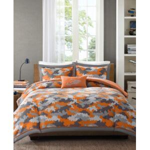 Zone Mi Zone Kids Lance 4-Pc. Full/Queen Comforter Set Bedding  - Orange
