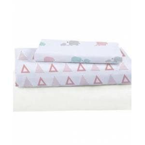 Igh Global Corporation Viscose From Bamboo Triangles Crib Sheet Set Bedding  - Pink