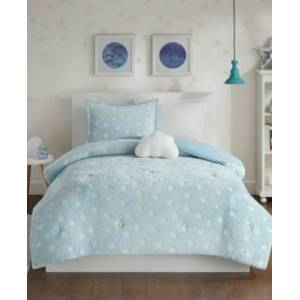 Zone Mi Zone Kids Quinny Twin 3-Pc. Glow In The Dark Plush Comforter Set Bedding  - Aqua