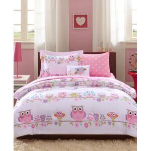 Zone Mi Zone Kids Wise Wendy, White, 6-Piece Reversible Twin Comforter Set Bedding  - White