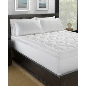 Ella Jayne Lofty 100% Cotton Plush Gel Fiber Filled Mattress Pad - California King  - White