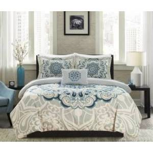 Chic Home Mindy 8 Piece King Bed In a Bag Duvet Set Bedding  - Blue
