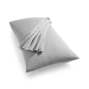 Calvin Klein Modern Cotton Jared King Pillowcases Bedding  - Heather Grey/charcoal