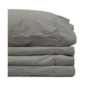 Jennifer Adams Home Jennifer Adams Relaxed Cotton Sateen King Sheet Set Bedding  - Dark Gray