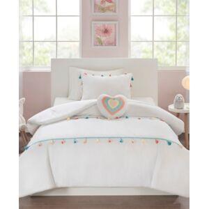 Zone Mi Zone Kids Tessa Twin 3 Piece Tassel Comforter Set Bedding  - White