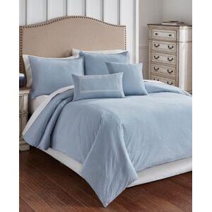 Riverbrook Home Cross Woven 6 Piece Queen Comforter Set Bedding  - Blue