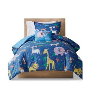 Zone Mi Zone Kids Rainbow Animals Full/Queen Printed Comforter, Set of 4 Bedding  - Multi