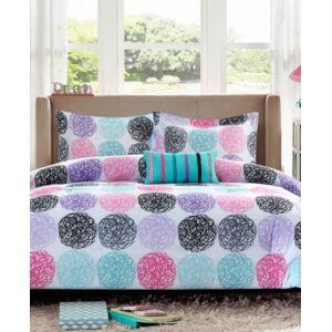 Zone Mi Zone Carly 4-Pc. Full/Queen Reversible Comforter Set Bedding  - Purple