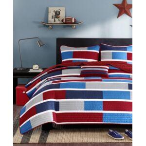 Zone Mi Zone Bradley Full/Queen 4-Pc. Quilted Coverlet Set Bedding  - Navy