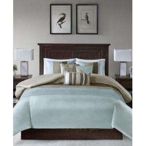 Madison Park Amherst 6-Pc. Full/Queen Duvet Cover Set Bedding  - Blue