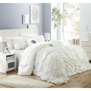 Chic Home Halpert 6-Pc Queen Comforter Set Bedding  - White