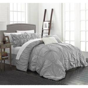 Chic Home Halpert 6-Pc Queen Comforter Set Bedding  - Silver