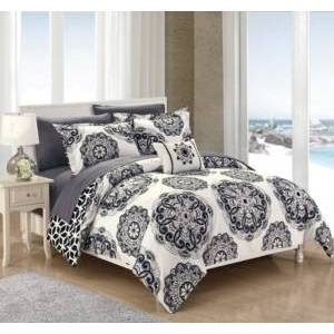 Chic Home Barcelona 6-Pc Twin Comforter Set Bedding  - Black