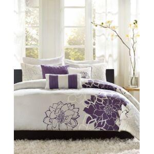 Madison Park Lola 6-Pc. Full/Queen Duvet Cover Set Bedding  - Purple