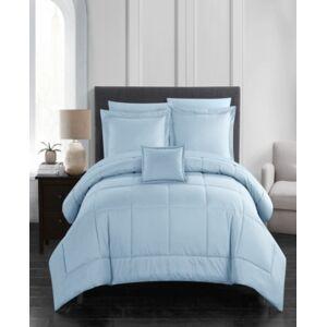 Chic Home Jordyn 8 Piece Queen Bed In a Bag Comforter Set Bedding  - Blue