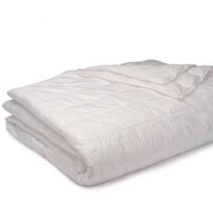 Epoch Hometex Inc Puff Packable Down Alternative Indoor/Outdoor Water Resistant Blanket with Extra Strong Nylon Cover Bedding  - White