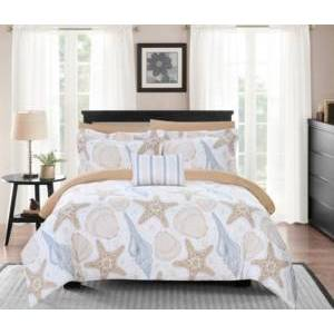 Chic Home Aquatic 8 Piece King Bed In a Bag Comforter Set Bedding  - Multi Color