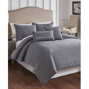 Riverbrook Home Cross Woven 6 Piece King Comforter Set Bedding  - Charcoal