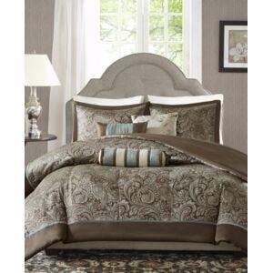 Madison Park Aubrey 6-Pc. Full/Queen Duvet Cover Set Bedding  - Brown
