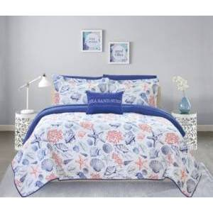 Chic Home Moselle 8 Piece King Bed in a Bag Quilt Set Bedding  - Multi Color
