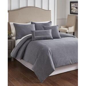 Riverbrook Home Cross Woven 6 Piece Queen Comforter Set Bedding  - Charcoal