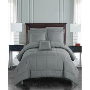 Chic Home Jordyn 8 Piece King Bed In a Bag Comforter Set Bedding  - Grey