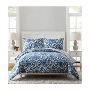 Vera Bradley Stitched Medallions King Comforter Set - 3Pc  - Blue