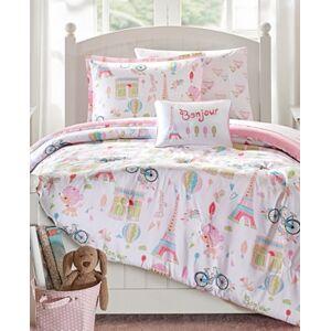 Zone Mi Zone Kids Bonjour 6-Pc. Reversible Twin Comforter Set Bedding  - Pink